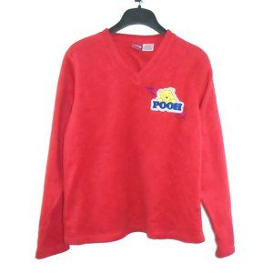 Winnie the Pooh Pullover Sweater Medium Red